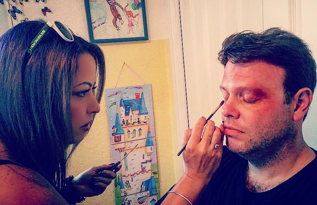 Bedsheet Man Makeup
