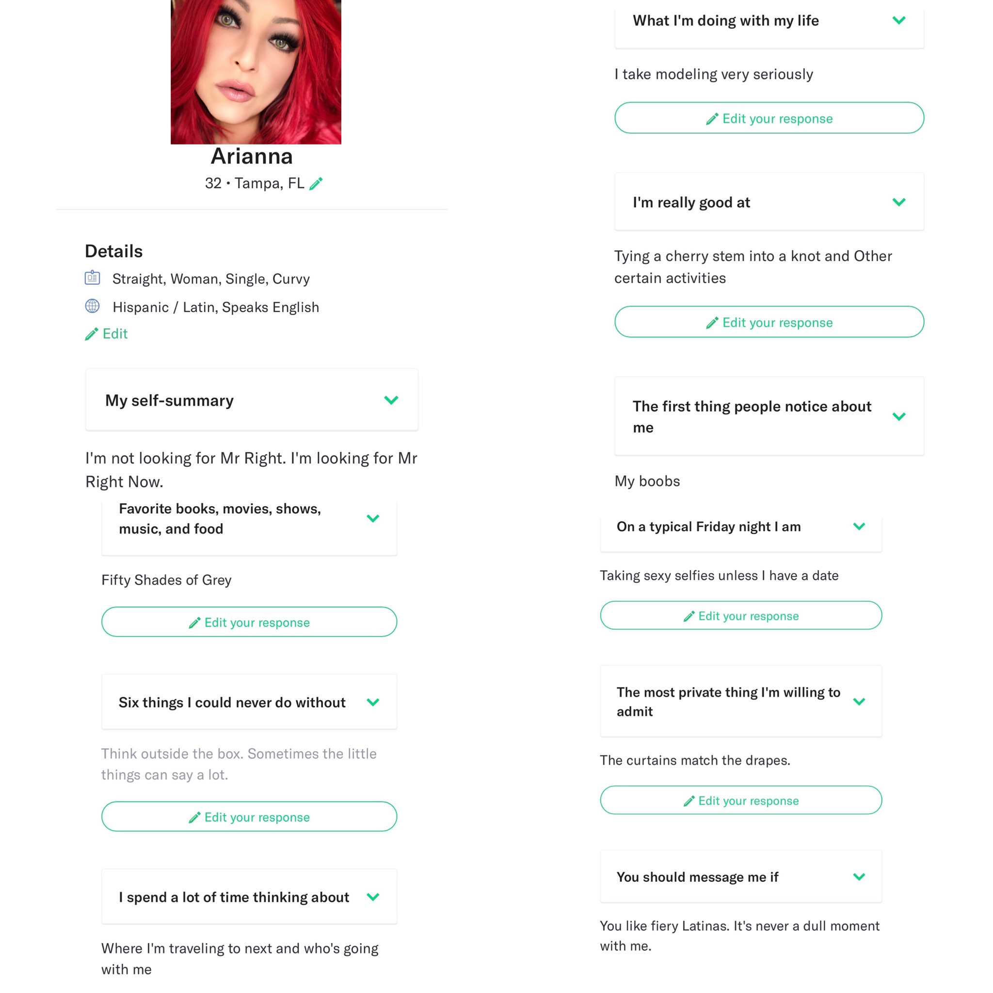 Arianna dating profile